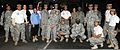 U.S. Soldiers and civilians, with Army South, pose for a photo after participating in the Ruck-N-Run hygiene drive in San Antonio, Texas, Nov. 9, 2011 111109-A-GG454-549.jpg