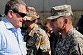 U.S. Special Representative for Afghanistan and Pakistan Richard Holbrooke meets with U.S. Army Col. William Hager, the commander of Afghan Regional Security Integration Command West, during his visit to Herat 090822-F-OF869-001.jpg