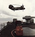 UH-46D of HC-5 delivers cargo to USS Arkansas (CGN-41) in 1986.jpg