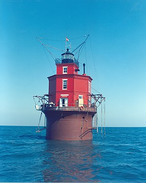 Caisson lighthouse - Wolf Trap Light, a caisson lighthouse in the Chesapeake Bay