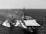 USS Ashtabula (AO-51) refuels Essex (CVA-9) 1955.jpg