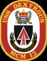 USS Dextrous MCM-13 Crest.png