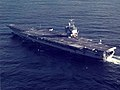 USS Enterprise (CVN-65) underway during sea trials in 1982.jpg