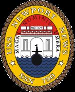 USS Newport News SSN-750 Crest