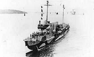O'Brien-class destroyer - Image: USS O'Brien (DD 51) in dazzle camouflage, 1918
