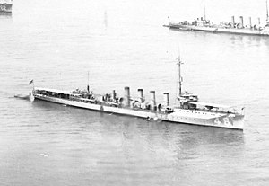 USS Parker (DD-48) - Parker off New York City in May 1921