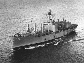 USS Sylvania (AFS-2) - USS Sylvania (AFS-2) underway, circa 1970.