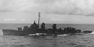 USS The Sullivans (DD-537) - The Sullivans off Ponape, 2 May 1944