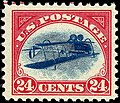 US Airmail inverted Jenny 24c 1918 issue.jpg