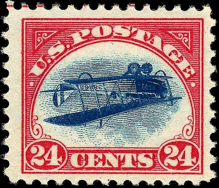 File:US Airmail inverted Jenny 24c 1918 issue.jpg