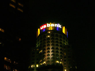 2008–09 Los Angeles Lakers season - Image: US Bank Tower during 09 Finals