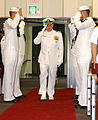 US Navy 020726-N-2420K-001 Captain James is piped aboard during the CFAS Change of Command Ceremony.jpg