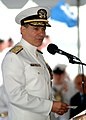 US Navy 030514-N-6665R-001 Vice Adm. T. Michael Bucchi addresses the crowd at his transition ceremony.jpg