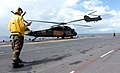 US Navy 050612-N-8146B-001 An Australian Army S70A-9 Black Hawk and a CH-47D Chinook assigned to Australian 5th Aviation Regiment, conduct flight operations from the flight deck of the amphibious assault ship USS Boxer (LHD 4).jpg
