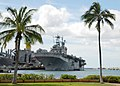 US Navy 060210-N-1027J-007 Expeditionary Strike Group One (ESG-1) flagship, amphibious assault USS Tarawa (LHA 1) is moored at Naval Station Pearl Harbor during a scheduled port visit.jpg