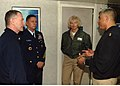 US Navy 070202-N-1941M-014 Master Chief Petty Officer of the Navy (MCPON) Joe R. Campa Jr. speaks with Command Master Chief Linda Handley and Master Chief Petty Officer of the Coast Guard Skip Bowen in the chiefs' mess.jpg