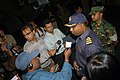US Navy 071129-N-5642P-089 A commander in the Bangladesh Army gives an interview to international media on the unique capabilities that Kearsarge brings to the Bangladesh Humanitarian Assistance-Disaster Relief mission.jpg