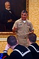 US Navy 080118-N-9818V-052 Master Chief Petty Officer of the Navy (MCPON) Joe R. Campa Jr. speaks to the winners of the 2007 Navy Recruiting Command Summer Heroes Award Campaign during a ceremony at the Ritz Carlton hotel in Cr.jpg