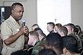 US Navy 090513-N-9552I-110 SIGONELLA, Sicily (May 13, 2009) Rear Adm. Arthur J. Johnson, Commander, Naval Safety Center, addresses Naval Air Station Sigonella Sailors during an all-hands call.jpg