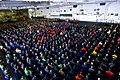 US Navy 100305-N-2953W-047 Sailors gather in ranks aboard the aircraft carrier USS Carl Vinson (CVN 70) during a captain's call from Capt. Bruce H. Lindsey, commanding officer of Carl Vinson.jpg
