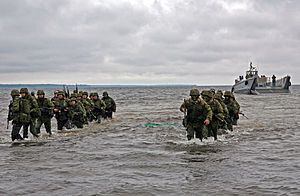 Estonian Defence Forces - Estonian soldiers during Baltic Operations (BALTOPS) 2010 training exercise.