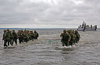 Estonian Defence League - Defence League troops in joint exercise with US marines in 2010.