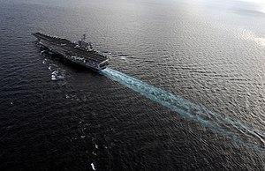 US Navy 120120-N-GZ832-567 The Nimitz-class aircraft carrier USS Carl Vinson (CVN 70) is underway in the Arabian Sea.jpg