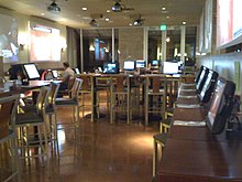 The interior of an uWink bistro in Mountain View, California, USA