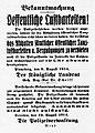 Uetersen Bekanntmachung Oeffentliche Lustbarkeiten Aug. 1914.jpg