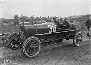 Ugo Sivocci - Ugo Sivocci in his Alfa Romeo 20-30 ES at the 1922 Targa Florio