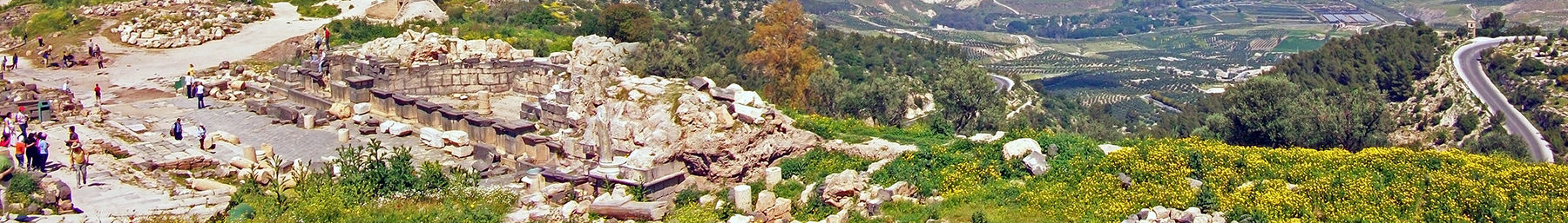 ruins of Roman city of Garada, at Umm Qais