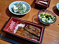 Unaju bento, hiyayakko and tsukemono by Blue Lotus.jpg