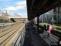 Under the canopy at Natick Center station, April 2016.JPG