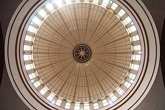 Abuja National Mosque - Image: Underside of the dome of Abuja National Mosque