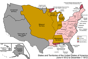 1812 Map of the United States