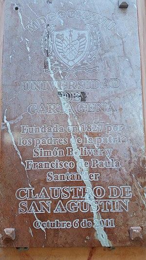 University of Cartagena - University of Cartagena historical marker
