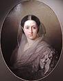 Unknown woman in white dress by I.Makarov (1860s, GIM).jpg
