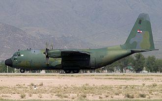Uruguayan Air Force - A C-130B Hercules sits on the tarmac at Francisco Gabrielli Int'l