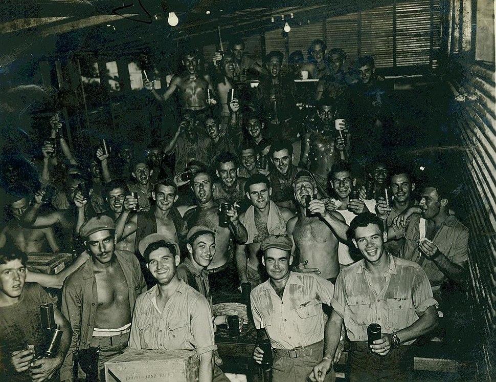 V-J Day Celebration, Okinawa, August 1945 (15900085425)