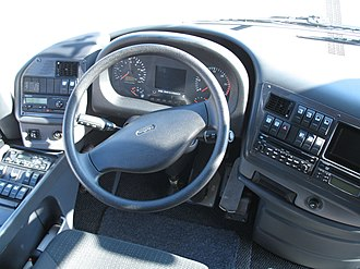 Steering wheel - Steering wheel in a VDL Bova bus