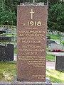 Vakaumuksensa puolesta kaatuneitten muistomerkki Hattula 1945.jpg