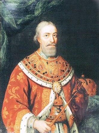 Vakhtang VI of Kartli - Portrait in royal regalia c. early 1700s