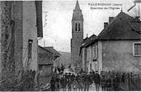 Valencogne, quartier de l'église, 1910, p259 de L'Isère les 533 communes - A Dopardon.jpg