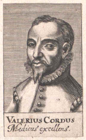 Valerius Cordus - German physician and botanist