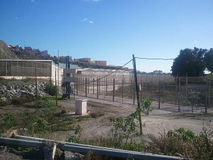 Ceuta border fence - The fence
