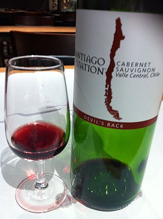 Chilean wine - A Cabernet Sauvignon from the Valle Central