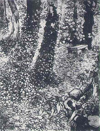 Vincent van Gogh's display at Les XX, 1890 - Image: Van Gogh Ivy