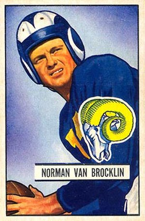Norm Van Brocklin - Van Brocklin depicted in 1951
