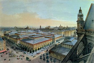 Victor Baltard - View of Les Halles from Saint-Eustache