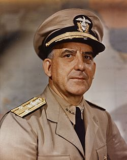 Vice Admiral Daniel E. Barbey, US Navy, on 23 July 1945.jpg